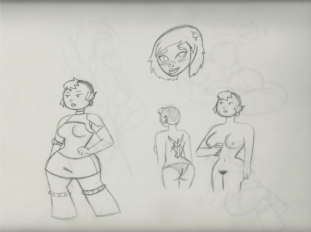 Monster Girl Sketch 1 by QTcomics