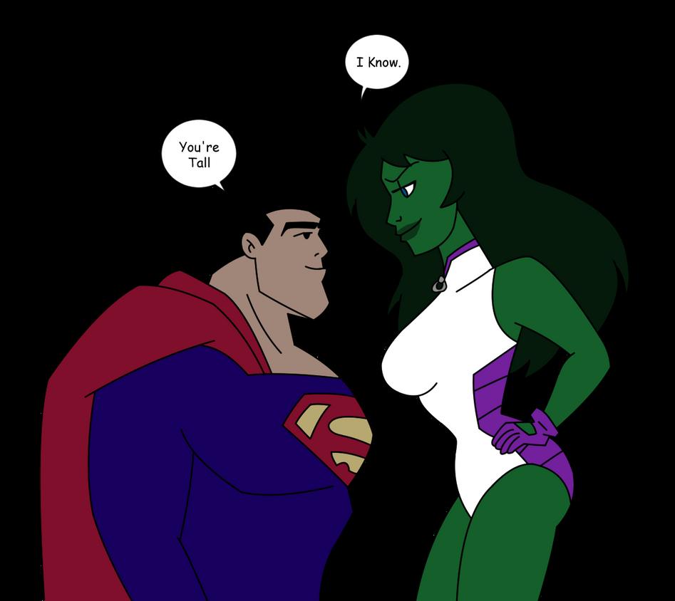 JL/Avengers Superman N She Hulk 2 Colored By QTcomics On