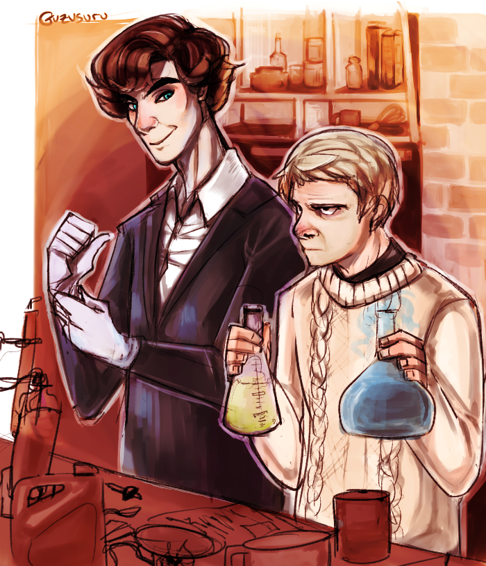 Sherlock - science time by Guzusuru
