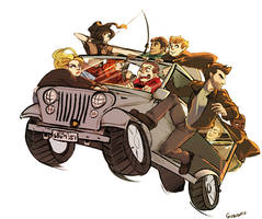 TW - Too Many Teens in a Jeep (and Derek)