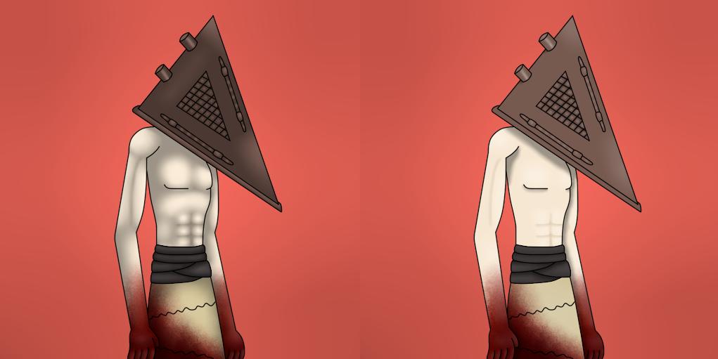 different lighting styles. pyramid head different shadinglighting styles by sivanhe lighting