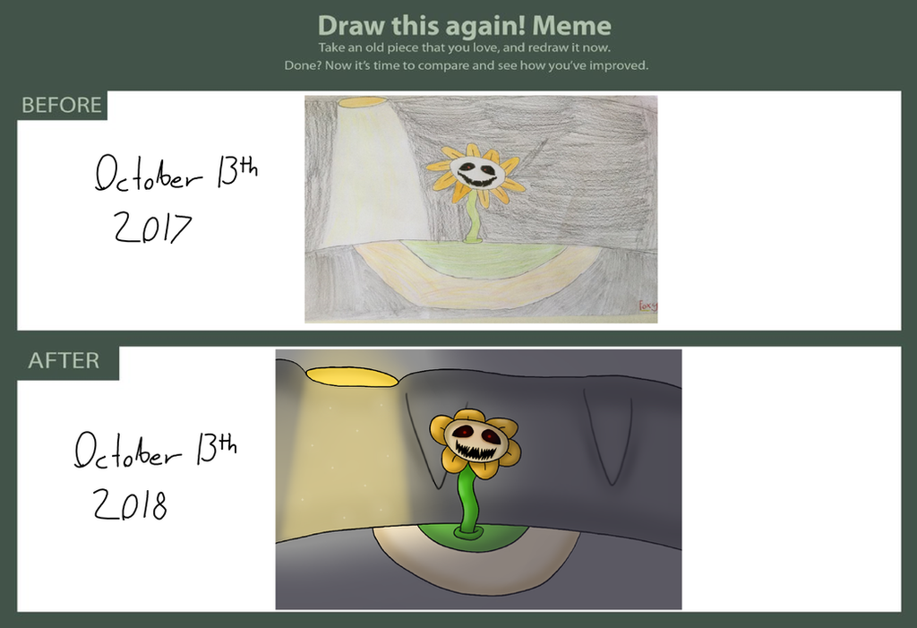 Draw This Again - Meeting Flowey (2018) by Foxy05426