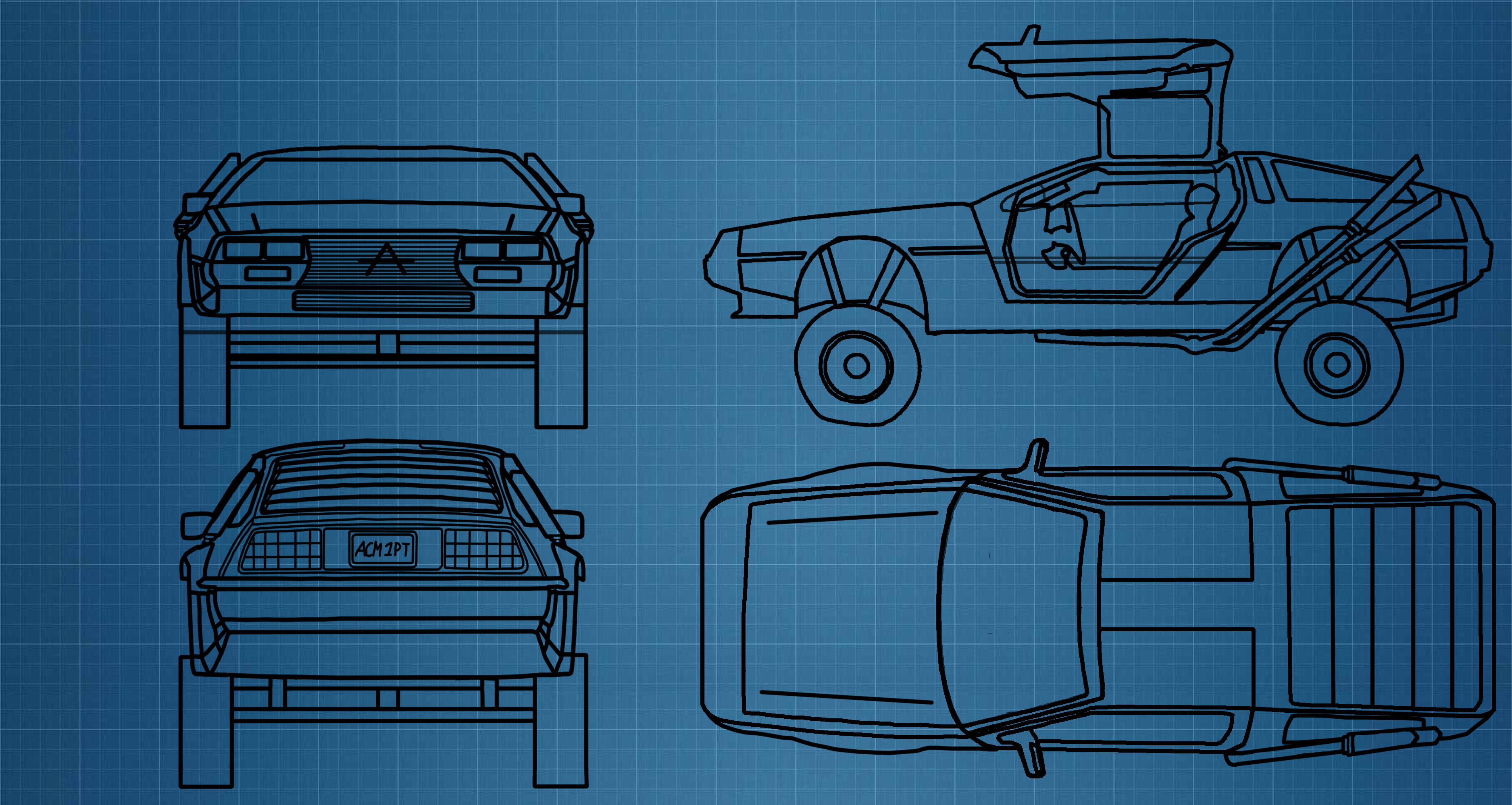 Blue print delorean mad max by mrdaltoniano on deviantart for Where to print blueprints