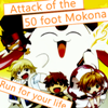 attack of the 50 foot Mokona by Grave-Robber-Jess
