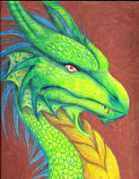 Acid Green Dragon by LivingAliveCreator