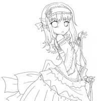 Ribbon Lolita Hime -Lineart- by Vanilla-myu