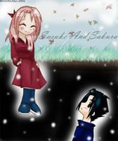 Sasuke And Sakura - Snowy Day by Vanilla-myu