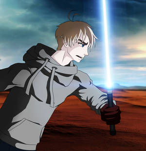 The Shepard in the Desert (Star Wars fan-art)