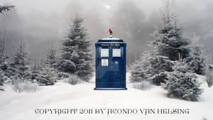 Doctor Who TARDIS Winter Wallpaper