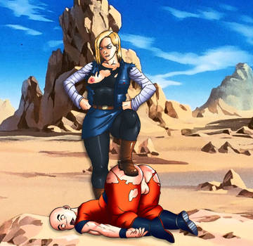 Krillin owned counut: over nine thousand! by Acarobasito
