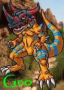 Geogreymon 'geo' icon by Sleipmon03