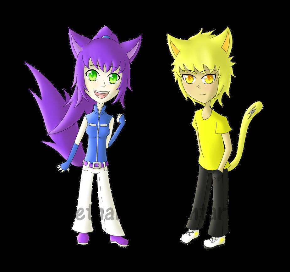 Elca and Electro chibis by ninakietnaki