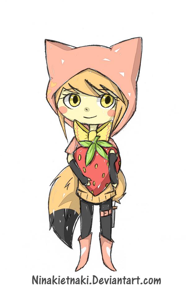 Lovin' strawberries by ninakietnaki