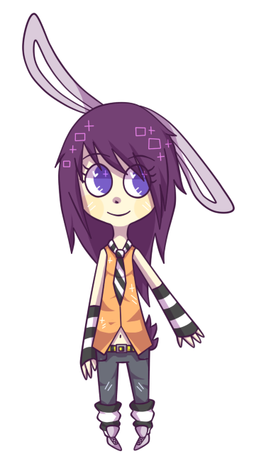 Purple bunny by Maohart