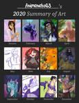 2020 Art Summary by Animeneko63