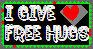 I Give Free Hugs - Stamp