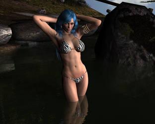 T.K. Zebra Bikini by Woo-Plays