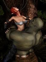 Orc Bearhugs Elf by Woo-Plays