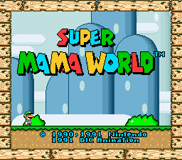 Super Mama World - Title Screen by MypkaMax