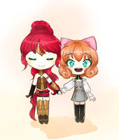 Two Dead Redheads by KawaiiStrawberryfox