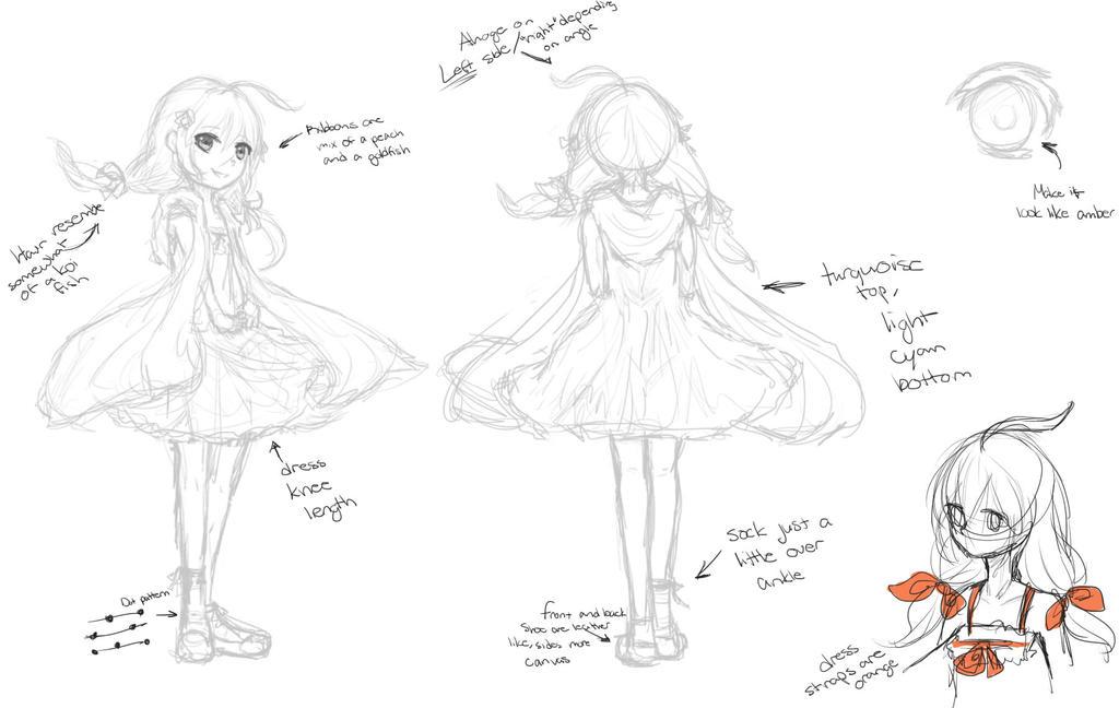 Reference for Kaya (Sketch version) by KawaiiStrawberryfox