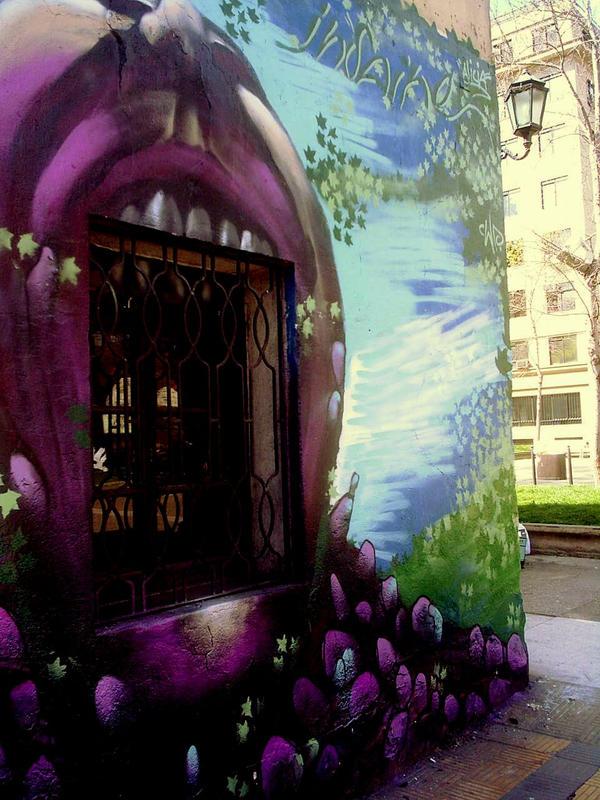 Graffiti  Parque Almagro by Sunerre