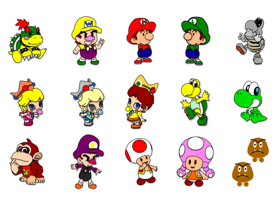 Baby Mario and Friends by 13WildRose on DeviantArt