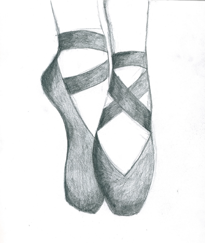 ballet shoes drawing easy - photo #3
