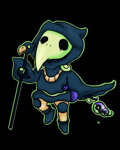 Plague Knight by Cosmic-Eevee