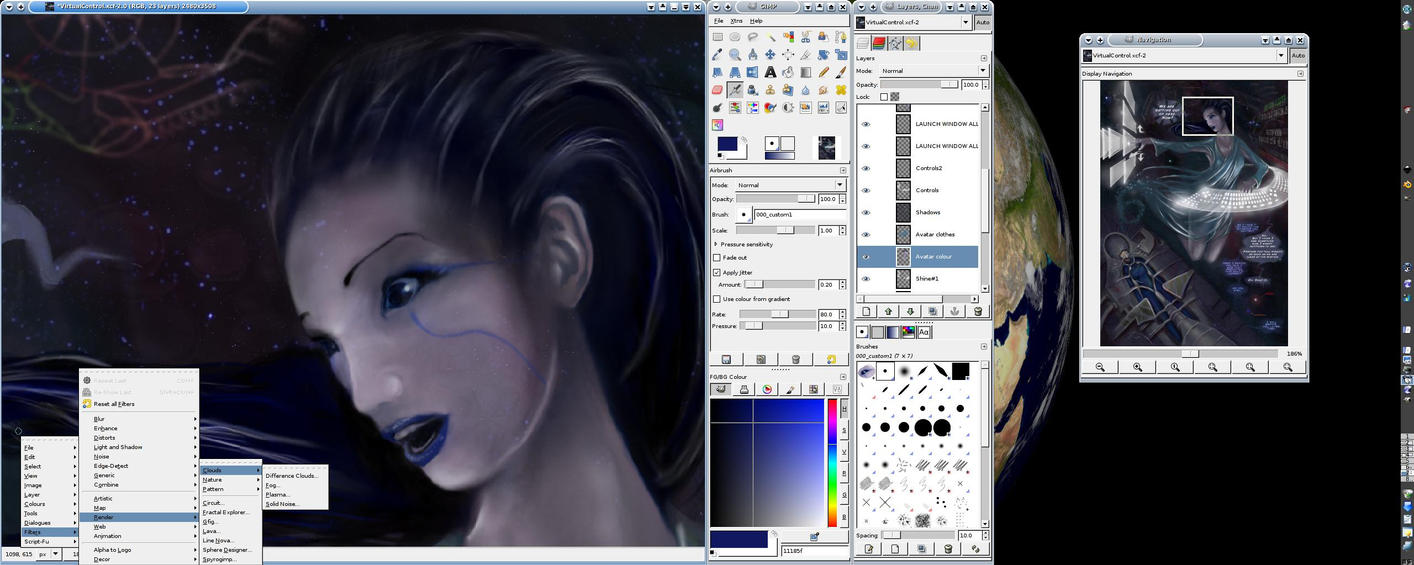 GIMP 2.4 review and screenshot by Griatch-art