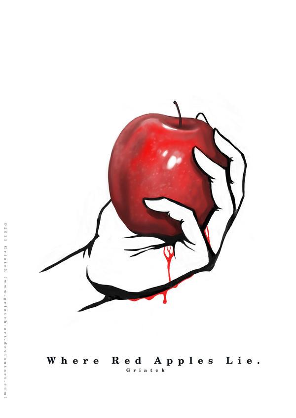 Red Applies Lie: Wet palm by Griatch-art