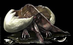 Study of a Dragon's birth by Griatch-art