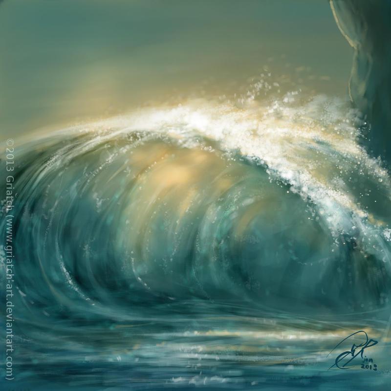 Rogue wave - sketch by Griatch-art