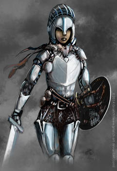 Female armor sketch