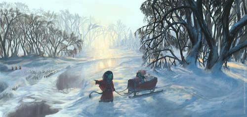 The sleigh trip - Christmas Card 2014