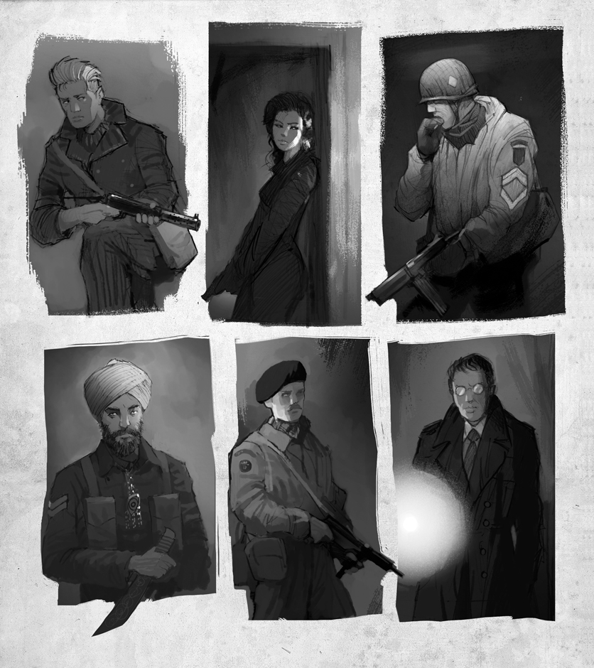 Achtung!Cthulhu Portraits by DimMartin