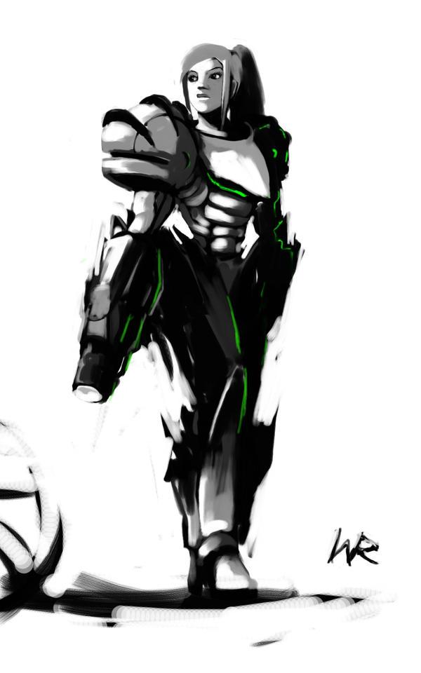 Samus sketch by Wynturtle