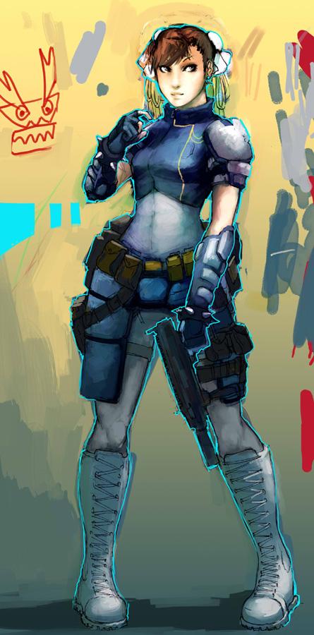 Chun li Resident evil ed. by Wynturtle