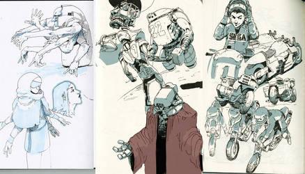 Pen Sketches B by WyntonRed