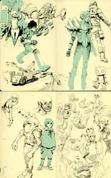 Pen Sketches C by WyntonRed