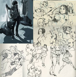 Sketches- Jan 2015 by WyntonRed