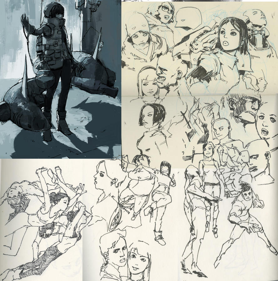 Sketches- Jan 2015 by Wynturtle