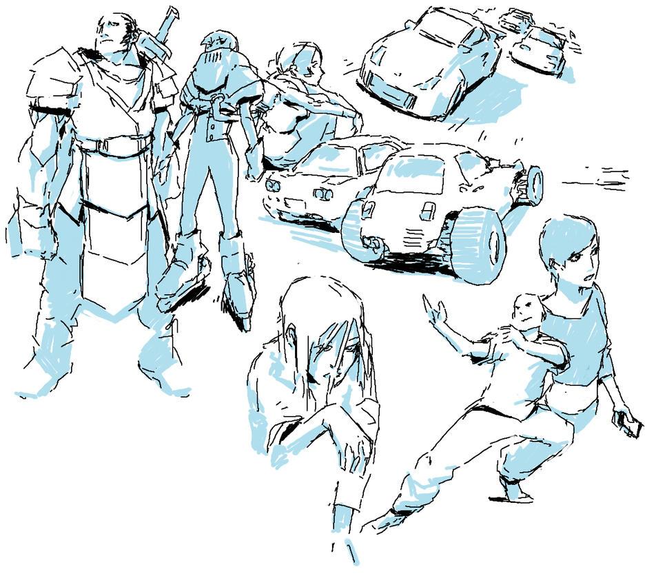 Pixiv Sketches #1 by Wynturtle