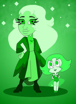 Chibi Green Gems
