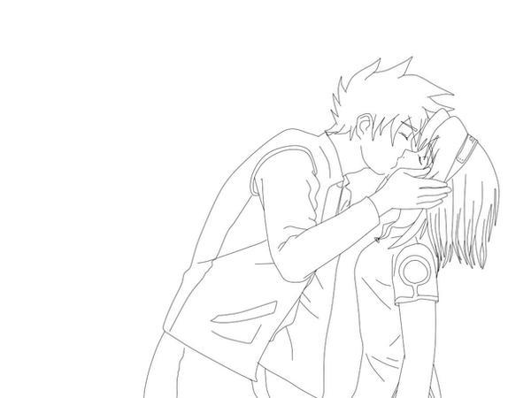 Naruto Y Sakura Para Pintar
