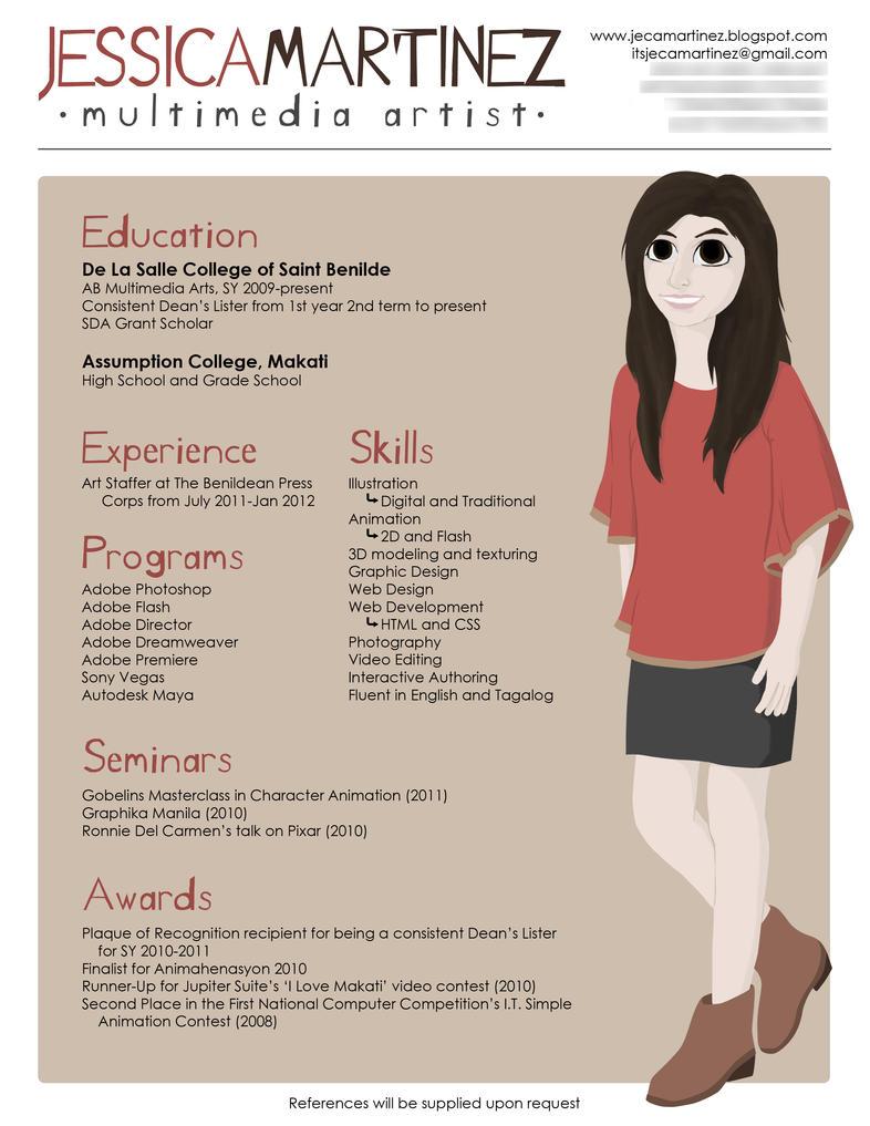 Creative Resume by jecamartinez on DeviantArt
