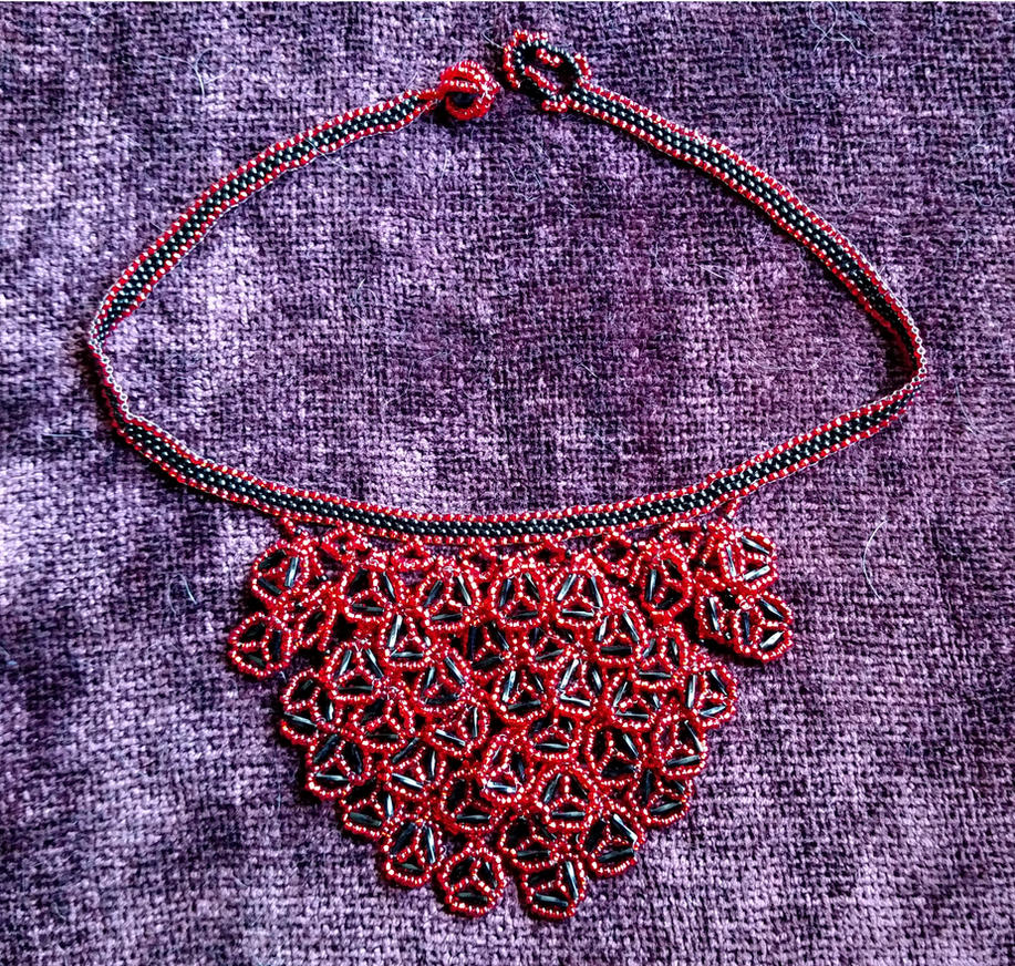 I Challenge You -- Beaded Paillette Necklace by slightly-caustic