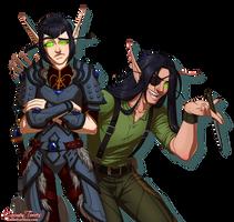 Caoilfhin and Tadhg by artofcarmen