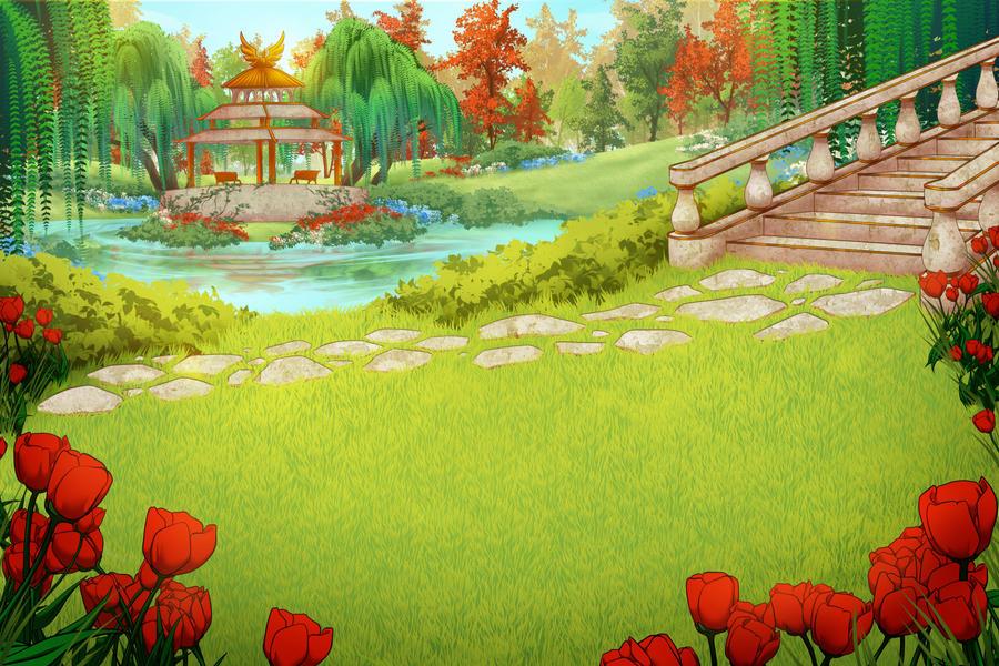 Free Background   Sunlit Garden By Artofcarmen ...