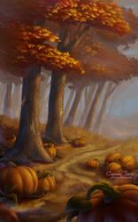 Fairway Fall Leaves